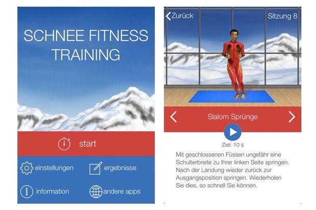 Top-Apps für die Piste: Schnee Fitness Trainer