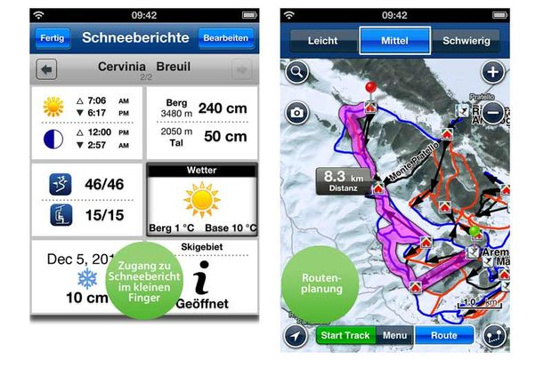 Top-Apps für die Piste:  Ski:Europe