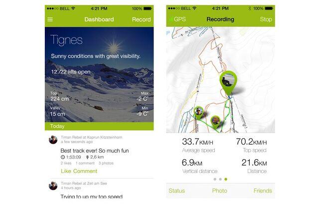 Top-Apps für die Piste: Snowciety