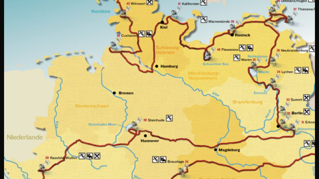 Touren quer durch Deutschland