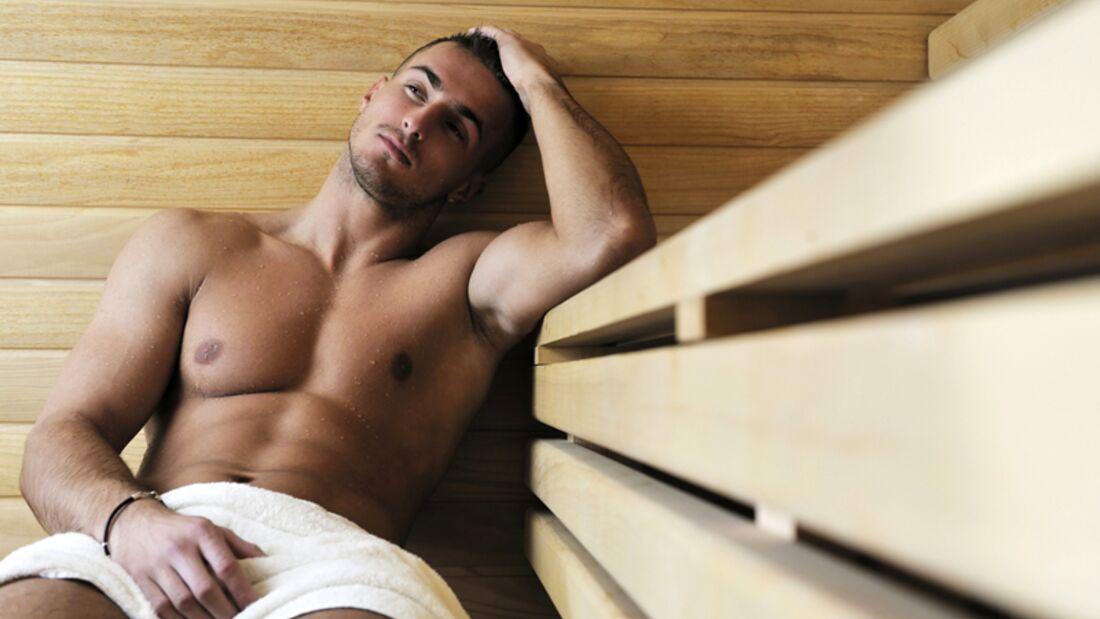 Tragen Sie keine Badehose in der Sauna
