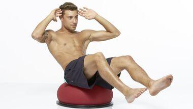 Trainingsgeräte Lexikon: Balance-Halbball