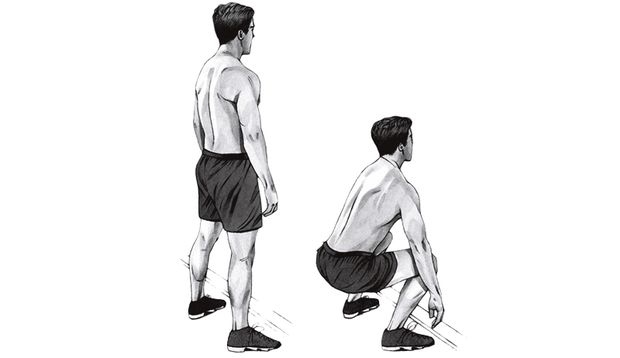 Übung 3: Kniebeugen vor der Wand