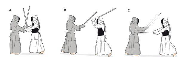 Übungsschritte Kendo
