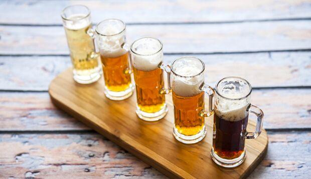 Verkosten Sie maximal 6 Biere
