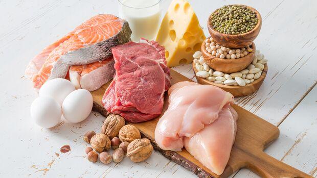 Viele Lebensmittel enthalten Proteine
