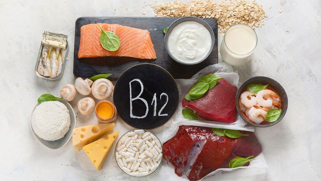 Vitamin B12 befindet sich fast ausschließlich in tierischen Lebensmitteln