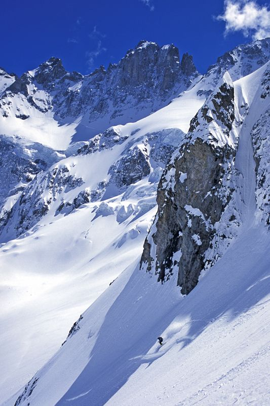 Vom Dôme de la Lauze nach La Grave in Les Deux Alpes, Frankreich