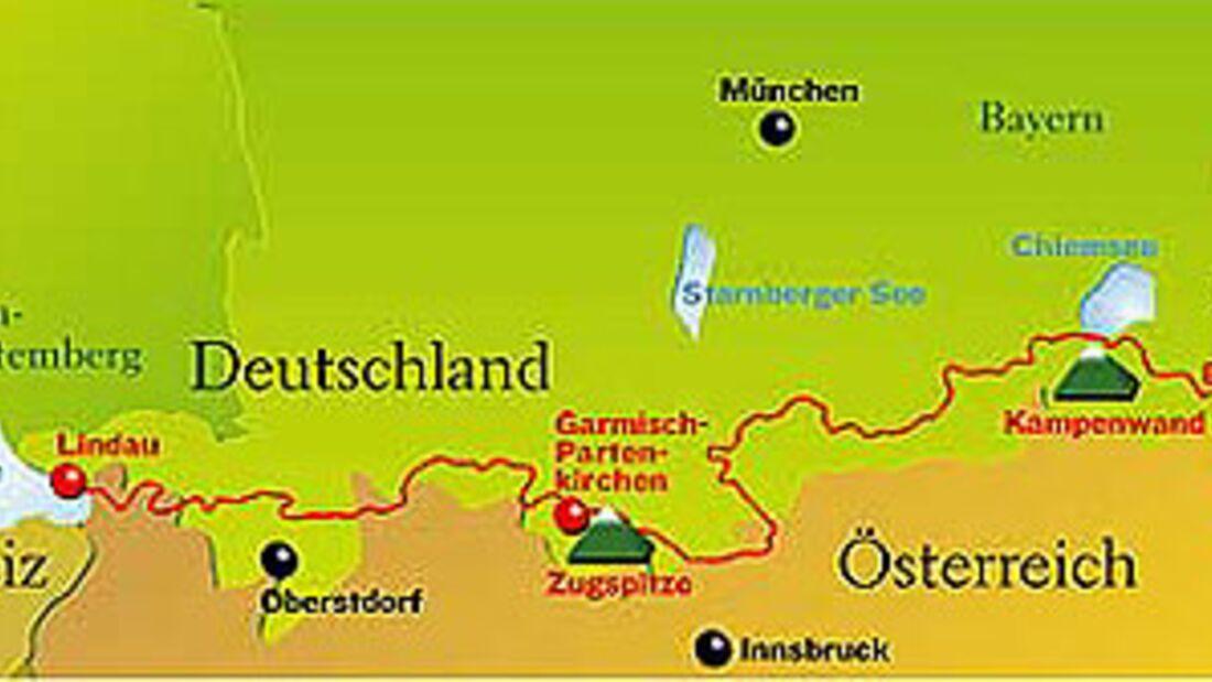 Von Lindau nach Berchtesgaden