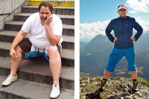 Vorher wog Roland 139 Kilo, nacher 93 Kilo