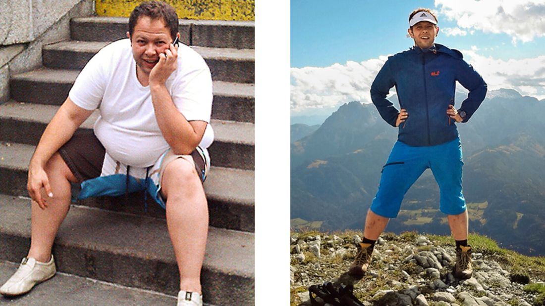 Vorher wog Roland 139 Kilo, nachher 93 Kilo
