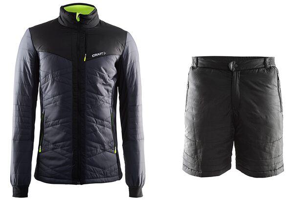 Warme Laufjacke und Shorts: Insulation Jacket und Shorts von Craft