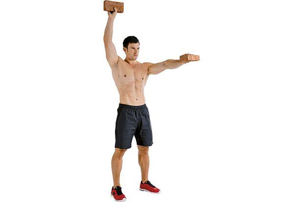 Wechselseitiges Armheben