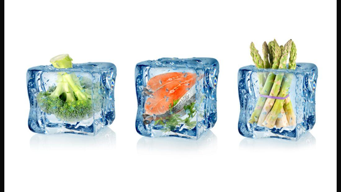 Wie friert man Gemüse und Fisch richtig ein?
