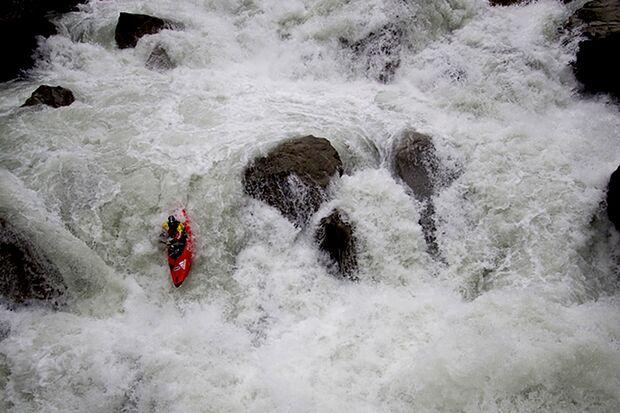 Wildwasser-Kajak