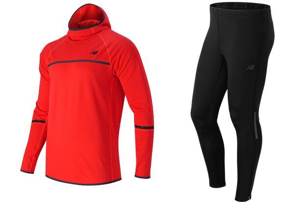 Winterlauf-Tights und Kapuzenpullover: Heat Tight & Pullover Hoodie von New Balance