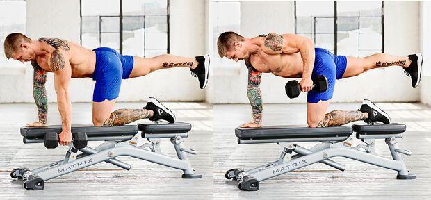 X-Plank-Rudern