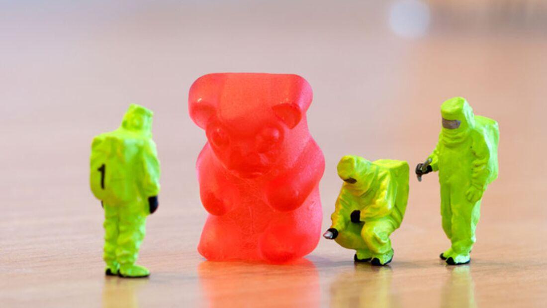 Zuckercheck beim Gummibärchen