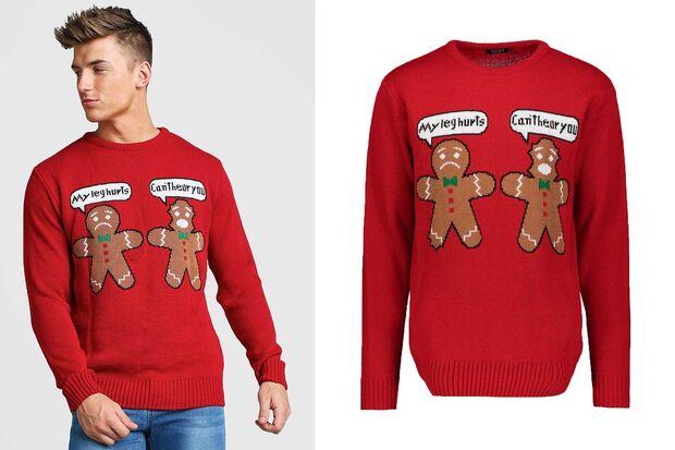 boohooMAN Gingerbread-Sweater