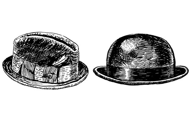 links: Homburg / rechts: Bowler