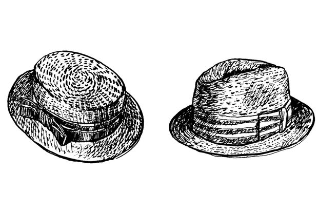 links: Pork Pie / rechts: Trilby